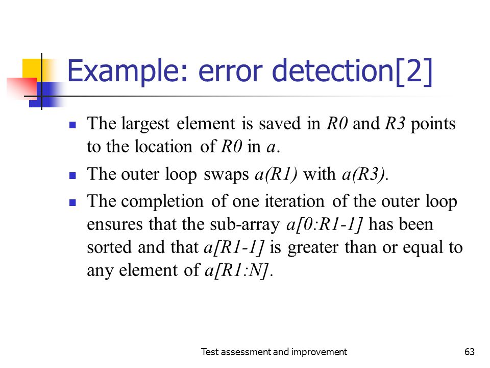 Example: error detection[2]